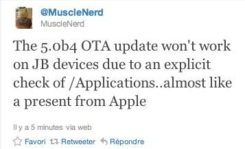 musclenerdota Jailbreak News   Les mises à jour OTA de liOS 5 ne fonctionnent pas sur appareils jailbreakés