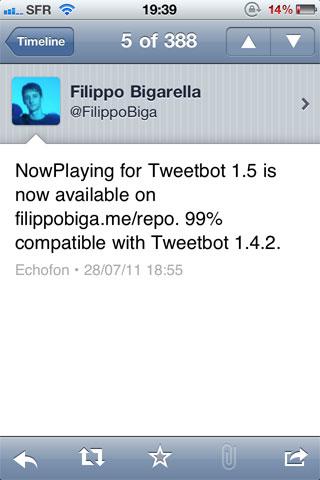 nowplayingtb Cydia   NowPlaying for Tweetbot se met à jour en version 1.5