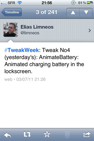 tweakweek3 Cydia   AnimateBattery anime votre lockscreen