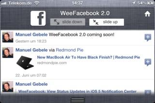 weefacebook 2 b Cydia   TheBigBoss.org consacre une nouvelle source Cydia à liOS 5 et aux widgets