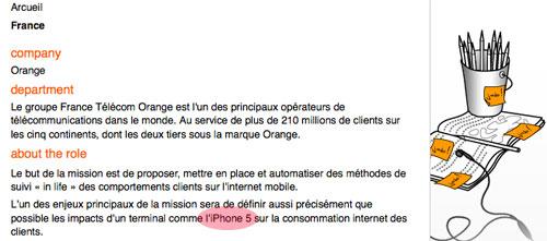11 News   iPhone 5 : Orange cherche des stagiaires