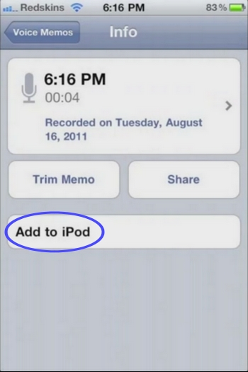 15 Cydia   iPod Memos : Importez les enregistrements dans iPod