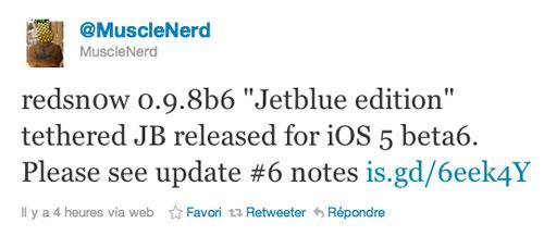 17 Tutoriel   Jailbreak iOS 5 bêta 6 avec RedSn0w
