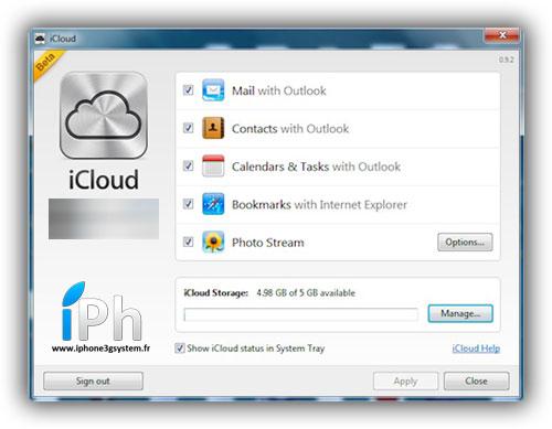 1icloud windows News   iCloud sur Windows Seven, quelques informations