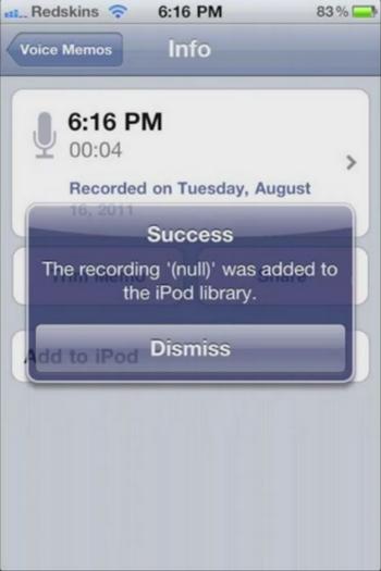26 Cydia   iPod Memos : Importez les enregistrements dans iPod