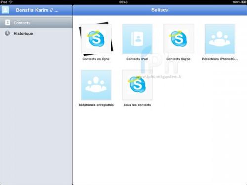 2 skype 500x375 AppStore   Skype pour iPad enfin disponible !