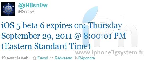 8768zgr News   LiOS 5 bêta 6 expire fin Septembre, dernière bêta avant la GM ?
