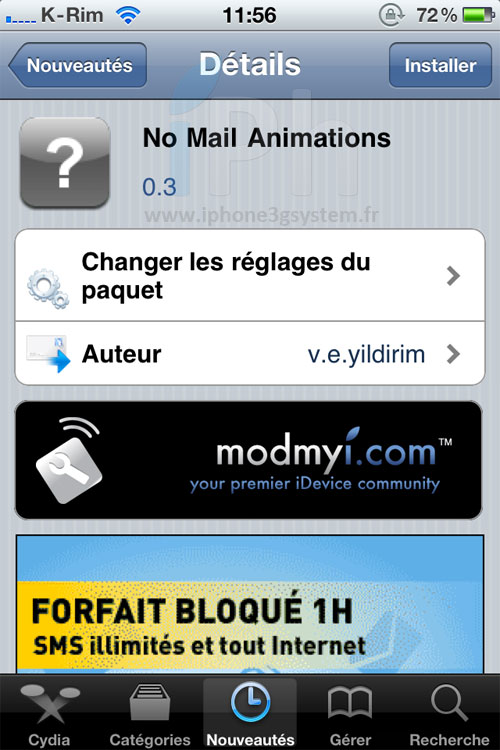 IMG 2692 Cydia   No Mail Animations : Supprimer les animations dans Mail