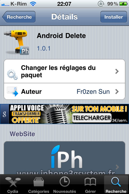 android delete crack repo Cydia   Android Delete : Supprimer une App comme sous Android [CRACK]