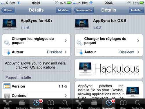 appsyncmaj Cydia   AppSync pour iOS 4.x se met à jour et AppSync pour iOS 5 fait son apparition