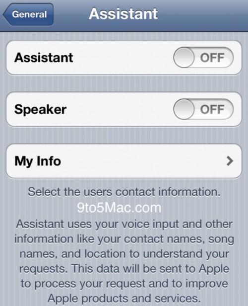 assistabtuioS 500x616 News   Des références à la technologie Siri dans liOS 5