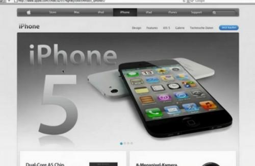 concepts video 500x325 Concepts Vidéo   LiPhone 5 dans les pages dApple