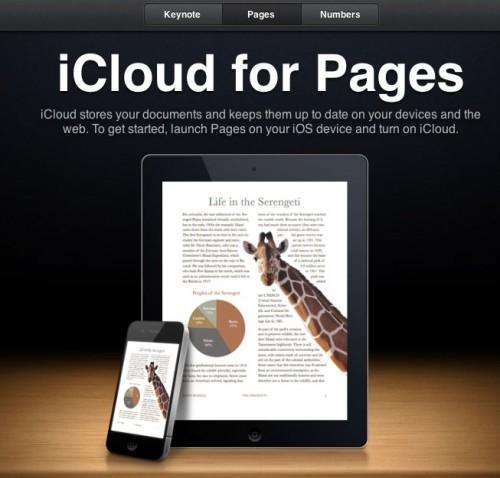 icloudpages 500x478 News   iCloud.com ouvre enfin ses portes aux développeurs