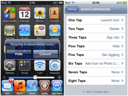 iconcmmand2 Cydia   IconCommands : Une sorte dActivator pour les icônes
