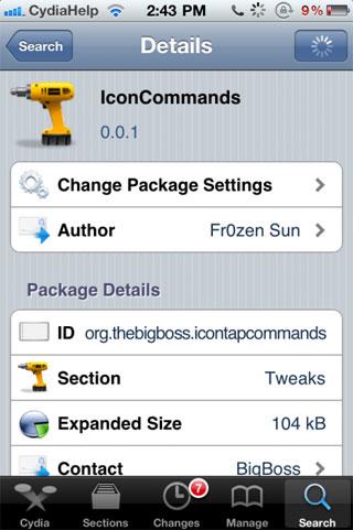 iconcommand Cydia   IconCommands : Une sorte dActivator pour les icônes