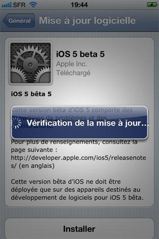 ios5 News   LiOS 5.0 beta 5 est disponible