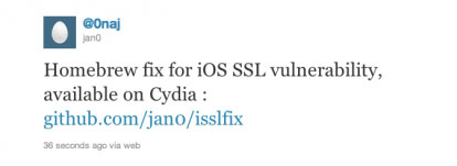 isslfix Cydia   isslfix corrige une faille SSL dans liOS