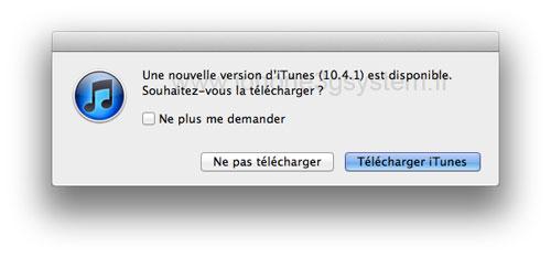 itunesMAJ News   iTunes 10.4.1 est disponible