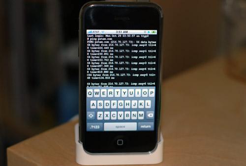 jailbreak iphone3gs Tutoriel   Connecter son appareil en SSH