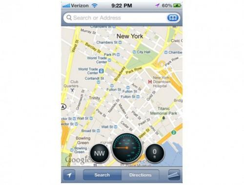 mapsaddon1 500x380 Cydia   Dashboard For Maps ajoute quelques petits outils à lapplication Plans