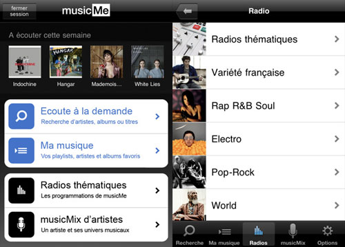 musicme2 News   Test de lapplication MusicMe sur iOS