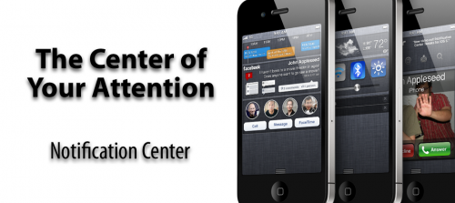 notification center 500x223 Concepts   Notification Center : Une gestion complète des widgets