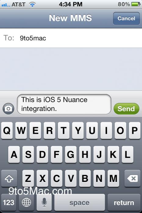 nuanceioS News   Le framework Nuance est bien présent dans liOS 5, captures décran à lappui