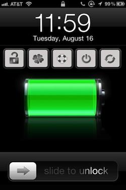 powerlock1 Cydia   PowerLock : ajoutez des Toogles sur votre Lockscreen