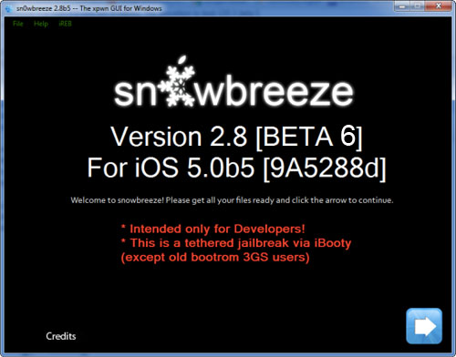 snow Jailbreak News   Sn0wBreeze 2.8 bêta 6 pour jailbreak liOS 5 bêta 6 est disponible