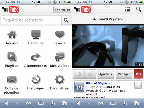 113 YouTube Mobile fait peau neuve