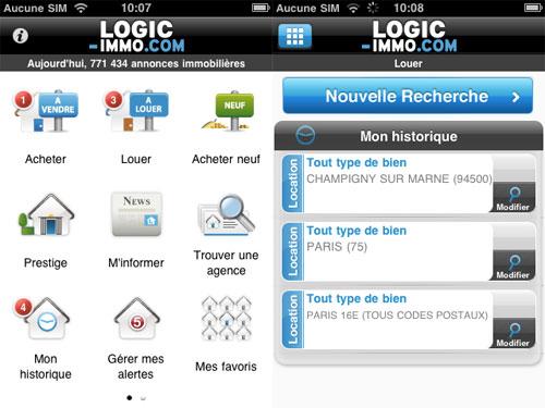 14 Logic Immo sur iPhone, recherchez et trouvez votre futur appartement ou maison