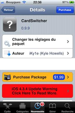 IMG 0046 Cydia   CardSwitcher : Switchez entre vos applications à la façon WebOS !