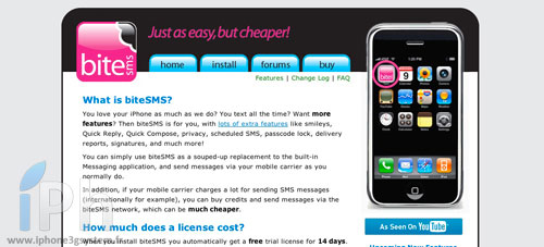 bitesms BiteSMS 6.0 bêta 5 compatible iOS5 GM et iOS4