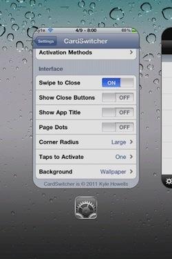 Cydia   CardSwitcher : Switchez entre vos applications à la façon WebOS !