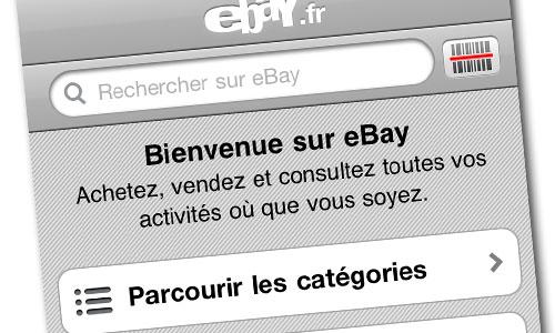 ebay mobile1 AppStore   eBay Mobile se met à jour en version 2.3.1