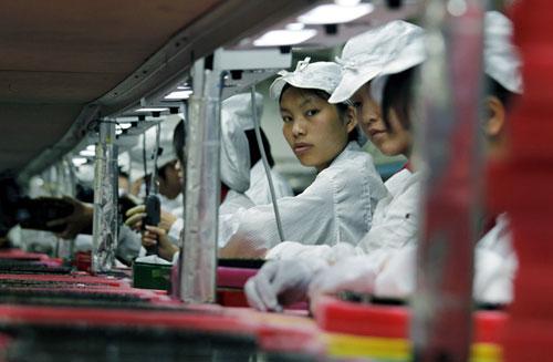 foxconn factory La production de liPhone 5 sélève à 150000 unités par jour