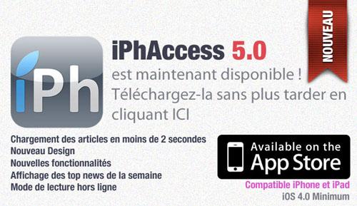 iPhAccess51 iPhAccess 5.0 est maintenant disponible sur lApp Store