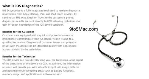iosdiag News   Le service de diagnostic en ligne dApple déjà actif, bientôt disponible
