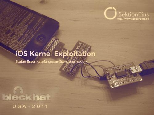 ioskernel i0n1c publie iOS Kernel Exploitation : comment fonctionne le jailbreak ?