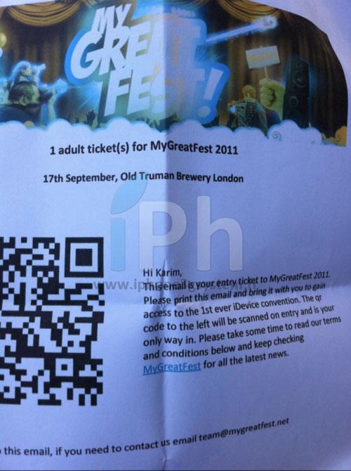 iphlive5 Live Event : MyGreatFest en direct de Londres