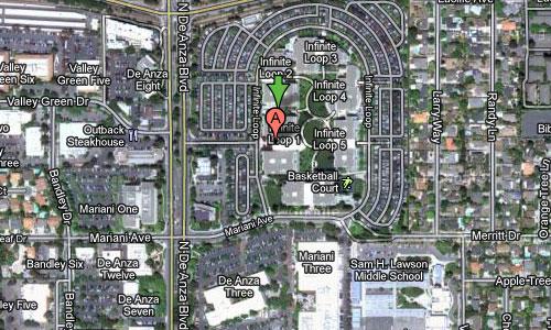 iphone5 map La première photo prise avec un iPhone 5 de 8 mégapixels à Cupertino ?