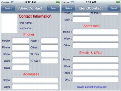 isendocntact Cydia   iSendContacts filtre les informations du contact que vous envoyez