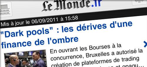 lemonde 4.0 LeMonde.fr passe en version 4.0