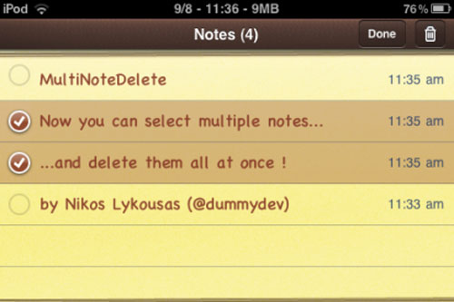 multinotedelete MultiNoteDelete supprime plusieurs notes en même temps