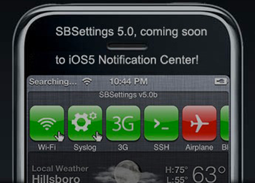 sbbeta0 La première beta de SBSettings pour iOS 5 est disponible