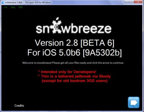 sbreeze 500x389 Jailbreak News   sn0wBreeze passe en version 2.8b7