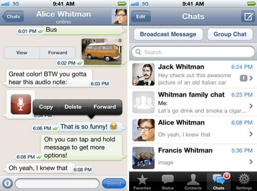 whatsapp messenger WhatsApp Messenger mis à jour en version 2.6.6