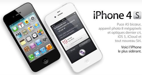 114 Prix et Conditions pour liPhone 4S en France