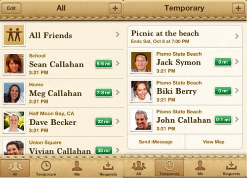 124 Apple lance Localiser mes amis
