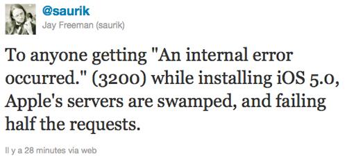 126 Comment résoudre lerreur iTunes 3200 pour liOS 5